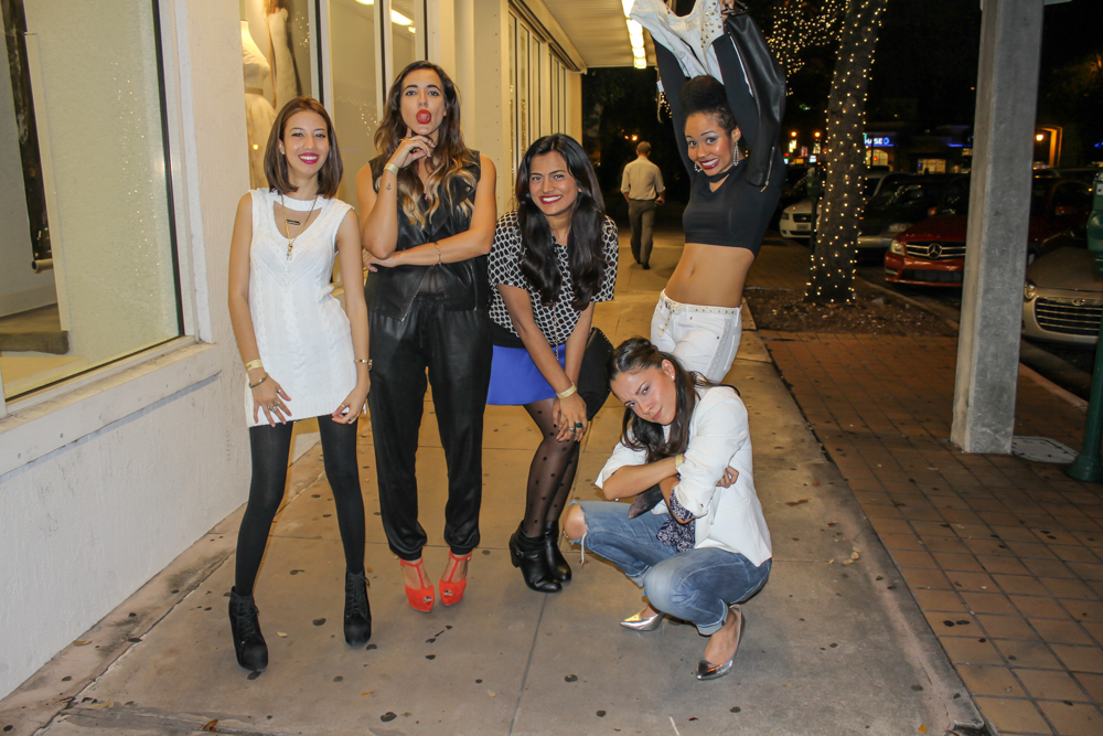 Miami Fashion Bloggers Goofing Off