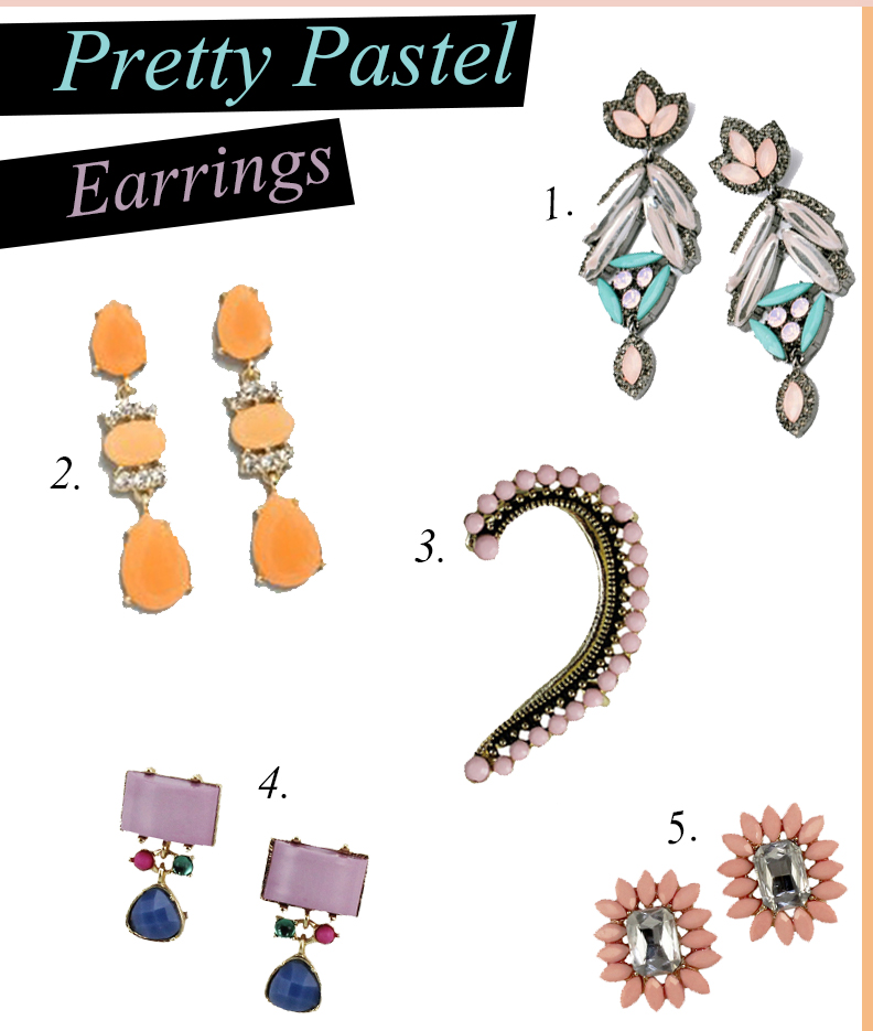 Pretty Pastel Earrings Fashion Blogger Chic Stylista