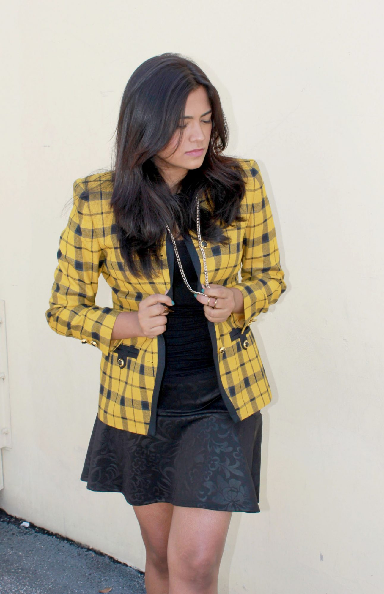 Clueless Cher Yellow Plaid Jacket