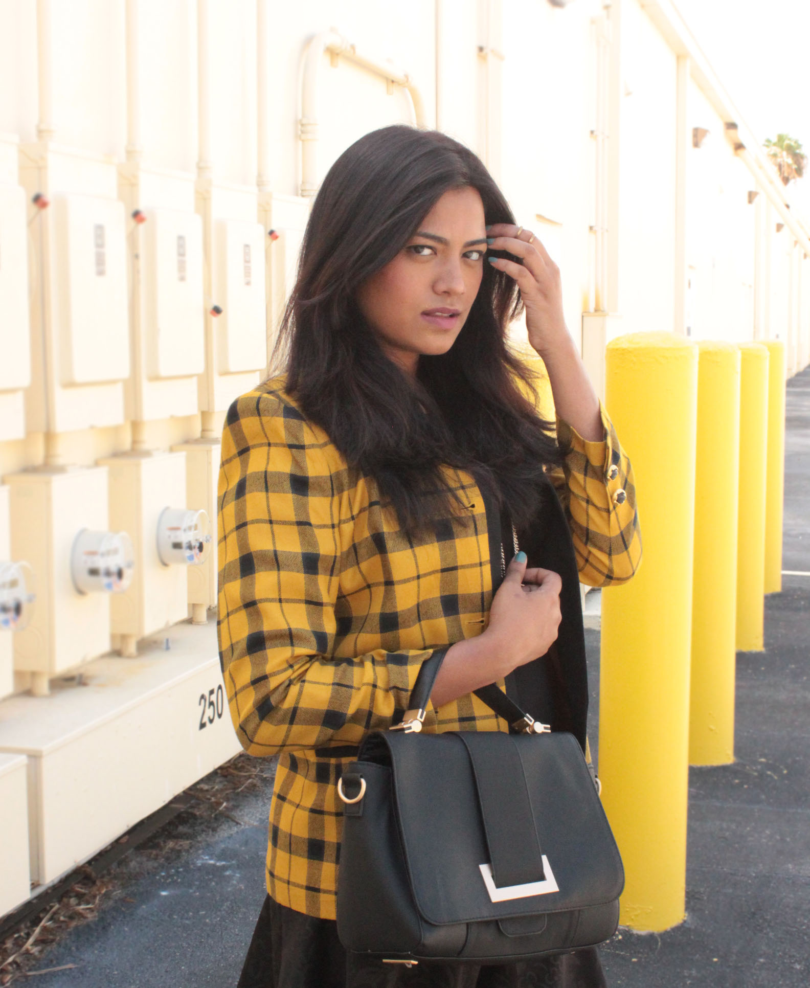 Afroza Khan Clueless Yellow Plaid Jacket