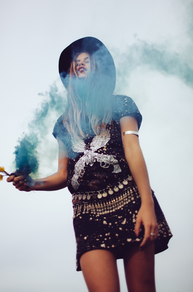 Bohemian Hippie Gypsy Fashion Blue Smoke Fashion