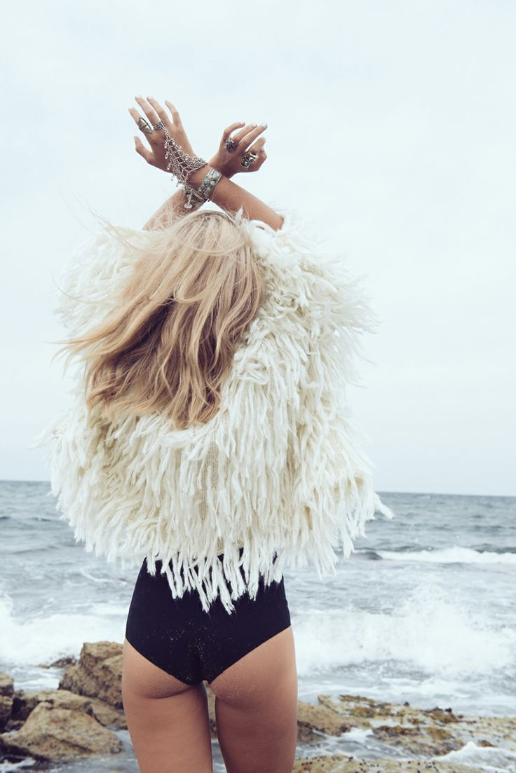 Bohemian Hippie White Angel Free Spirit White Fur Jacket