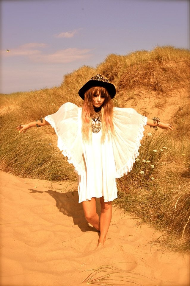 Bohemian Hippie White Angel Free Spirit