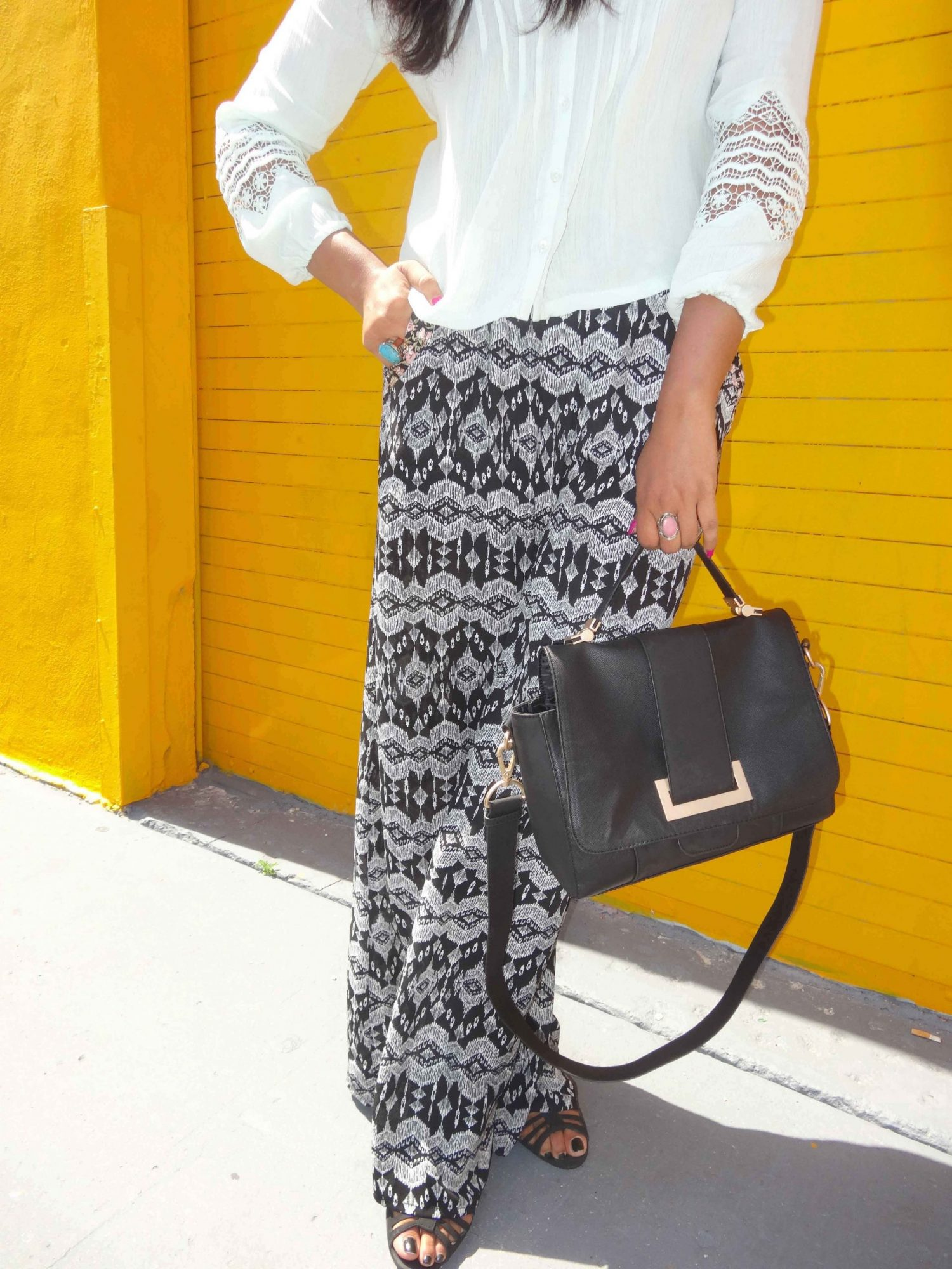 Miami Fashion Blogger Chic Stylista Pacsun Flare Pants copy