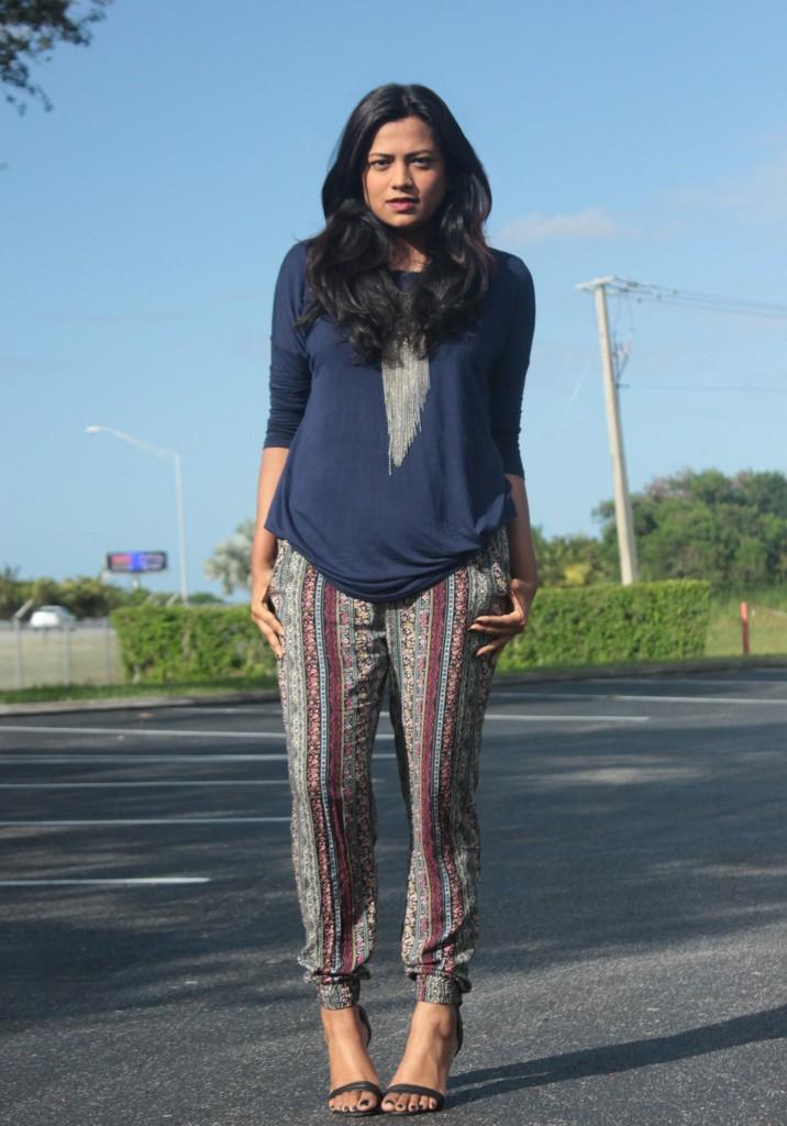 Miami Fashion Blogger Pacsun Printed Jogger Afroza Khan