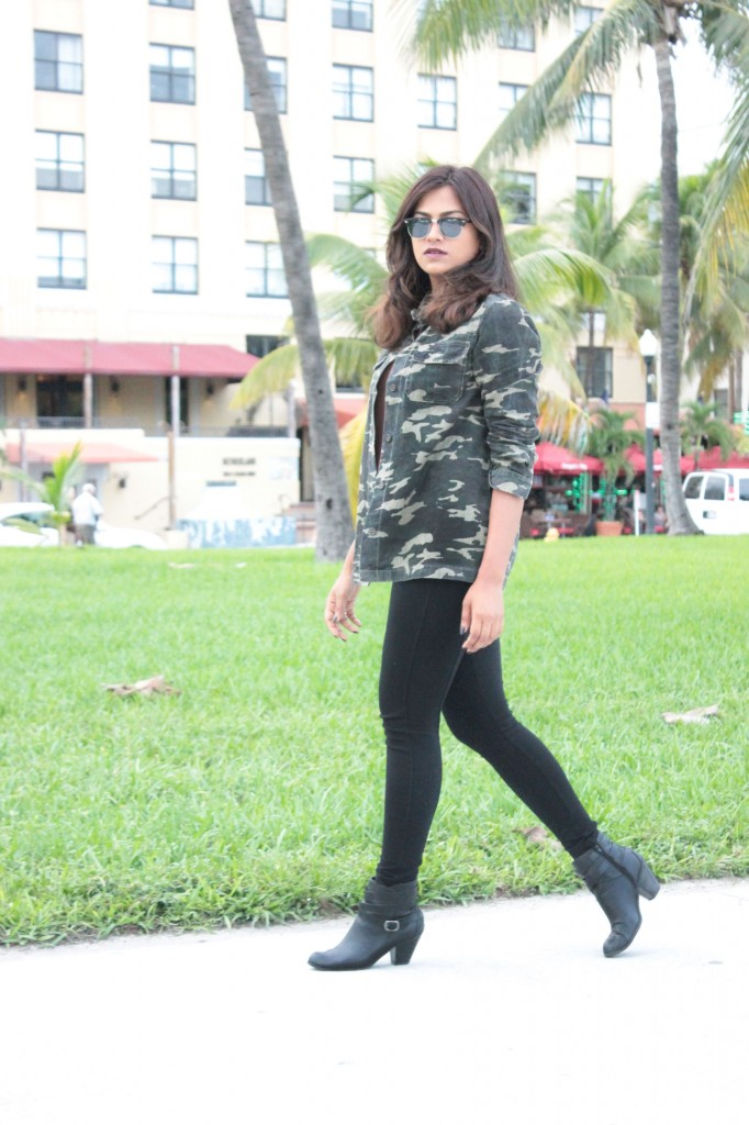 Miami Fall Camouflage Jacker Fashion Blogger Monc Boutique