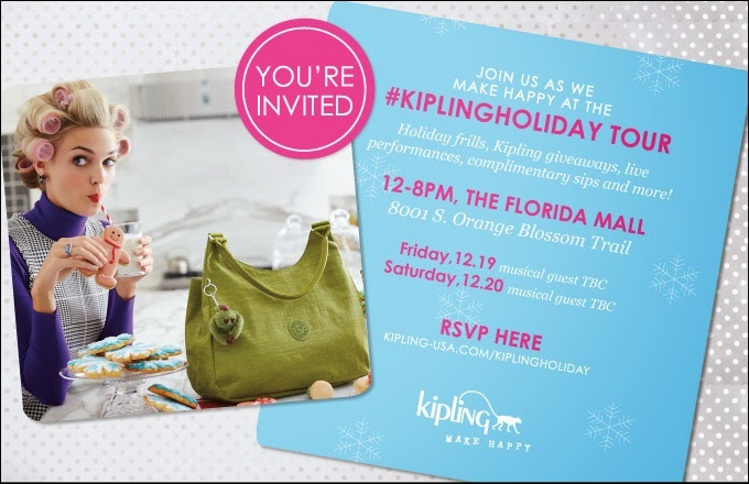Kipling Holiday Tour Orlando Fashion Event