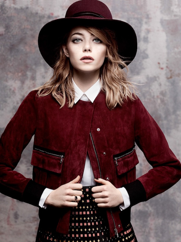Wine Red Gorgeous Shades Emma Stone Editorial