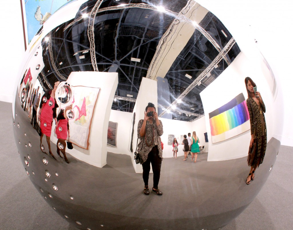 Art Basel 2014 Miami Beach Convention Center Mirror Ball