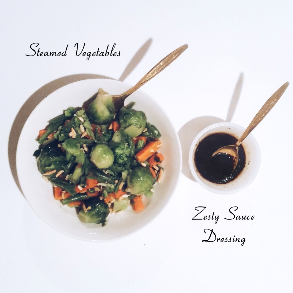 Steamed Veggies and sauce