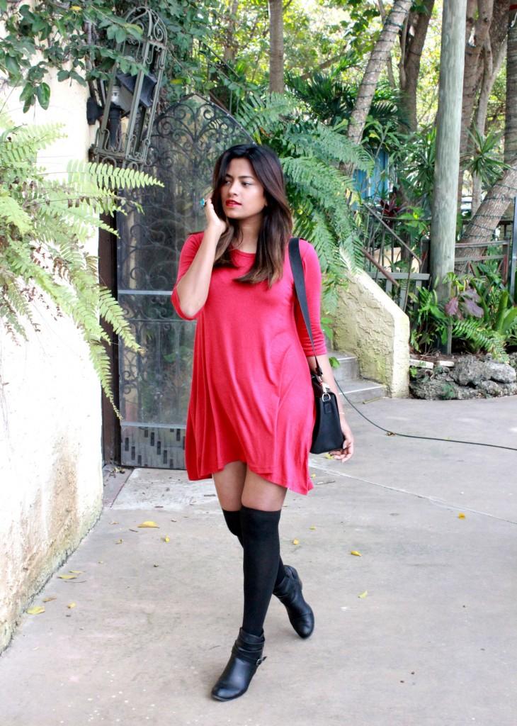 Miami Fashion Blogger Dress Dress Knee High Socks