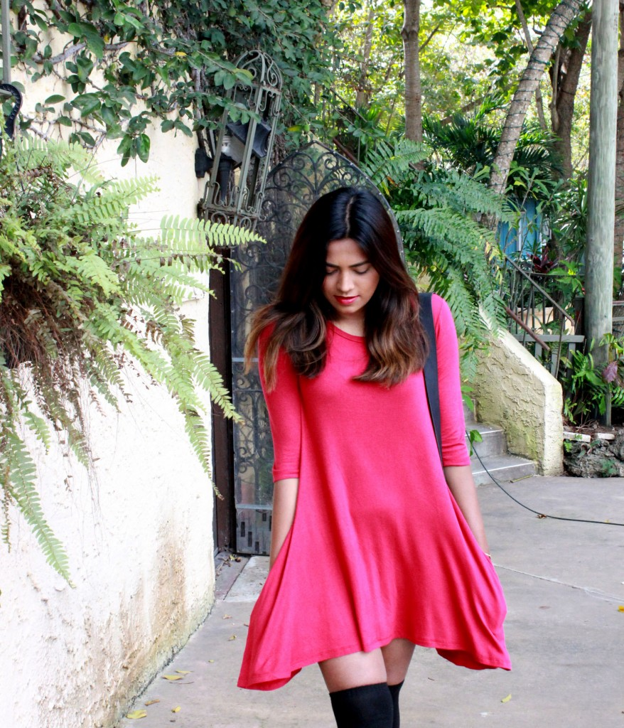 Miami Fashion Blogger Macys Red Dress With Pockets
