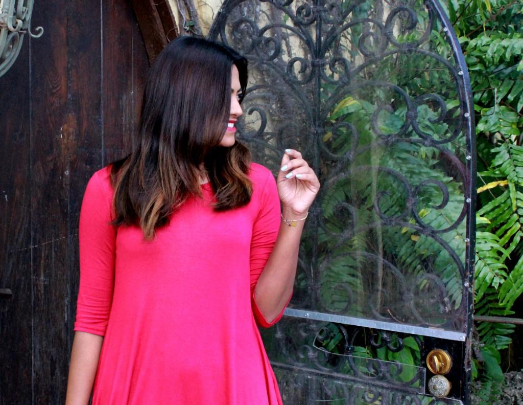 Miami Fashion Blogger Red Dress Red Lips Smile