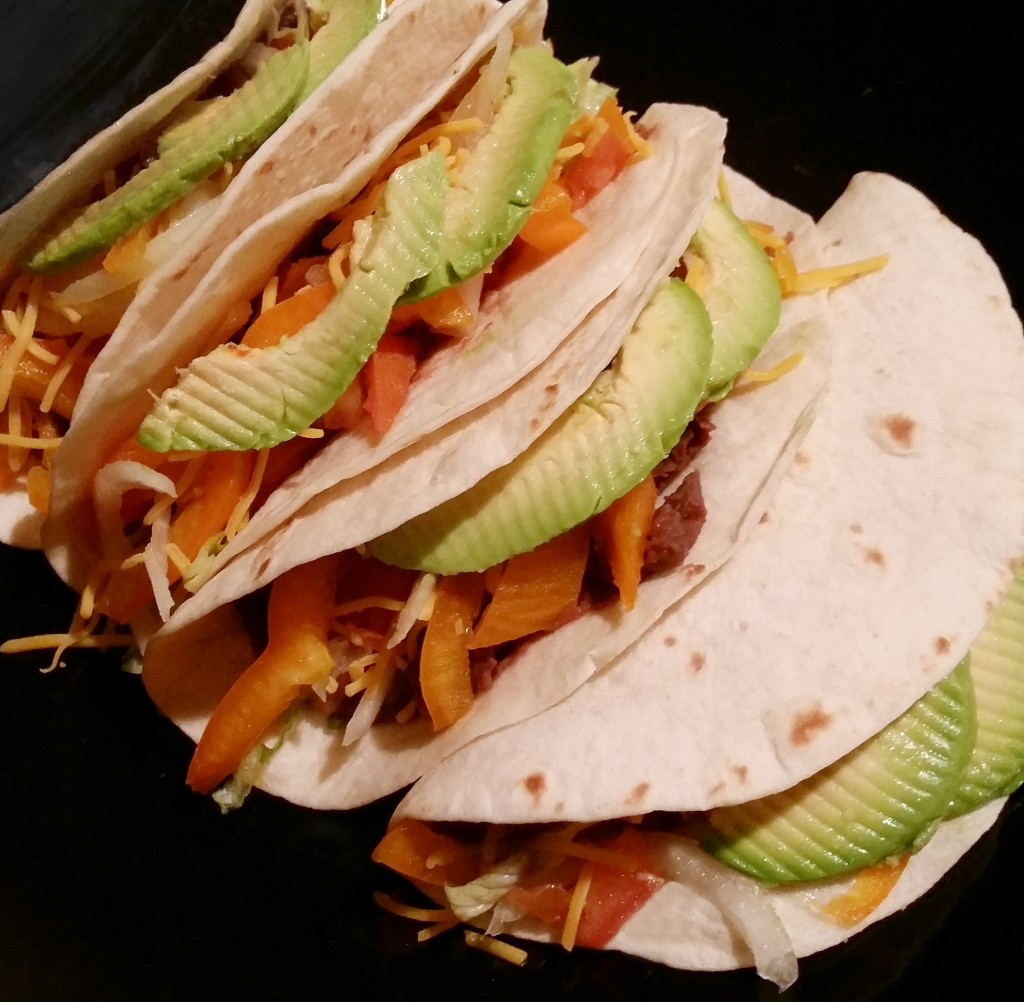 Old El Peso Vegetarian Bean Tacos
