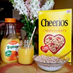 Cheerios & Florida Orange Juice Breakfast