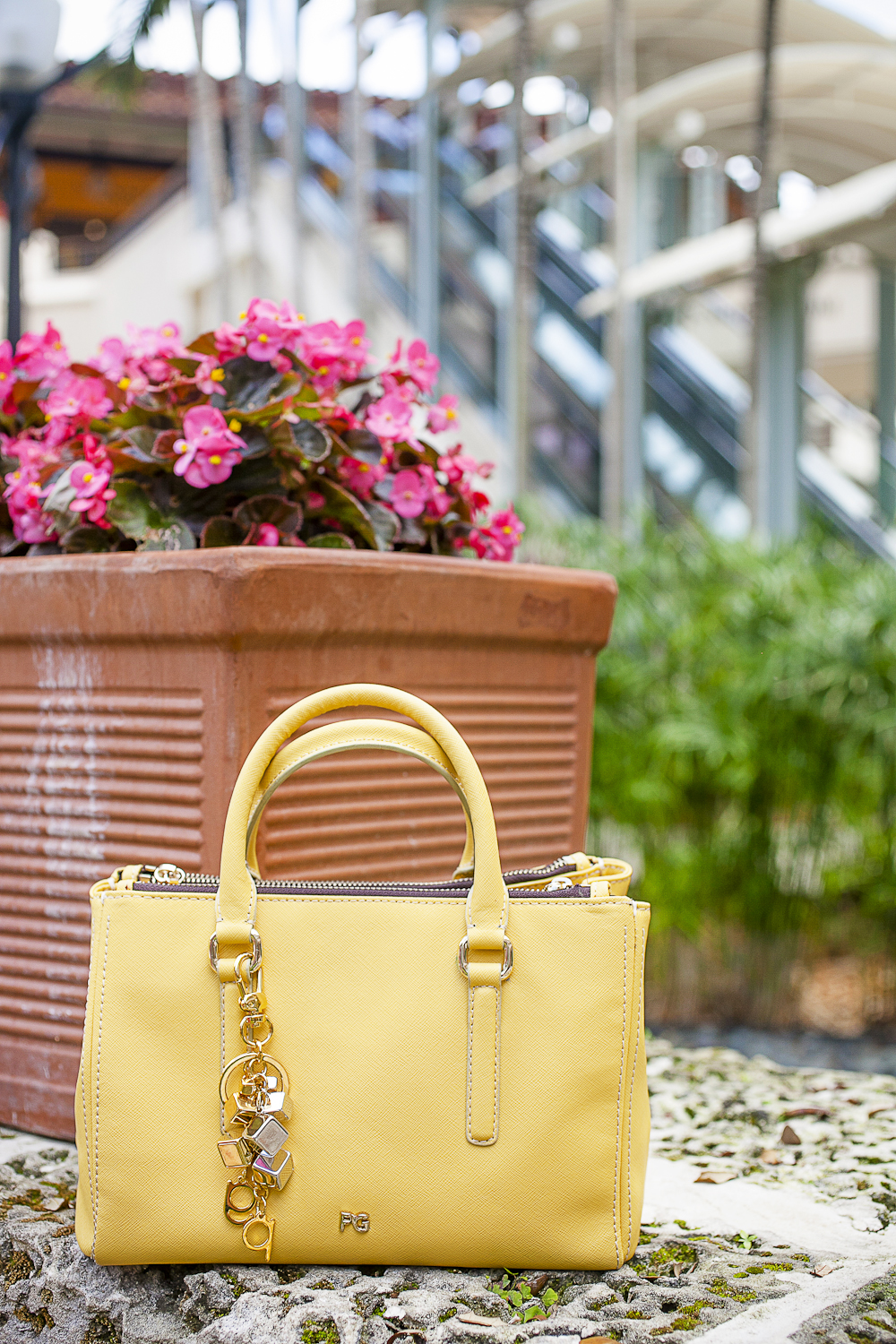 Purificacion Garcia Fashion Blogger Yellow Handbag