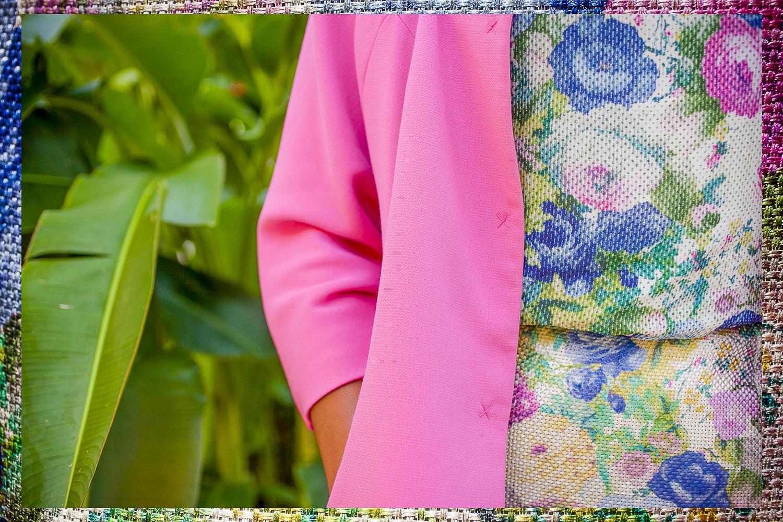 Purificacion Garcia Pink Coat Floral Print