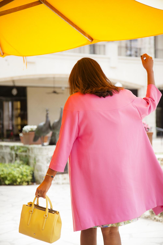 Purificacion Garcia Pink Coat OOTD