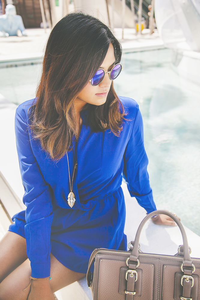 Blue Romper Spring Fashion Editorial
