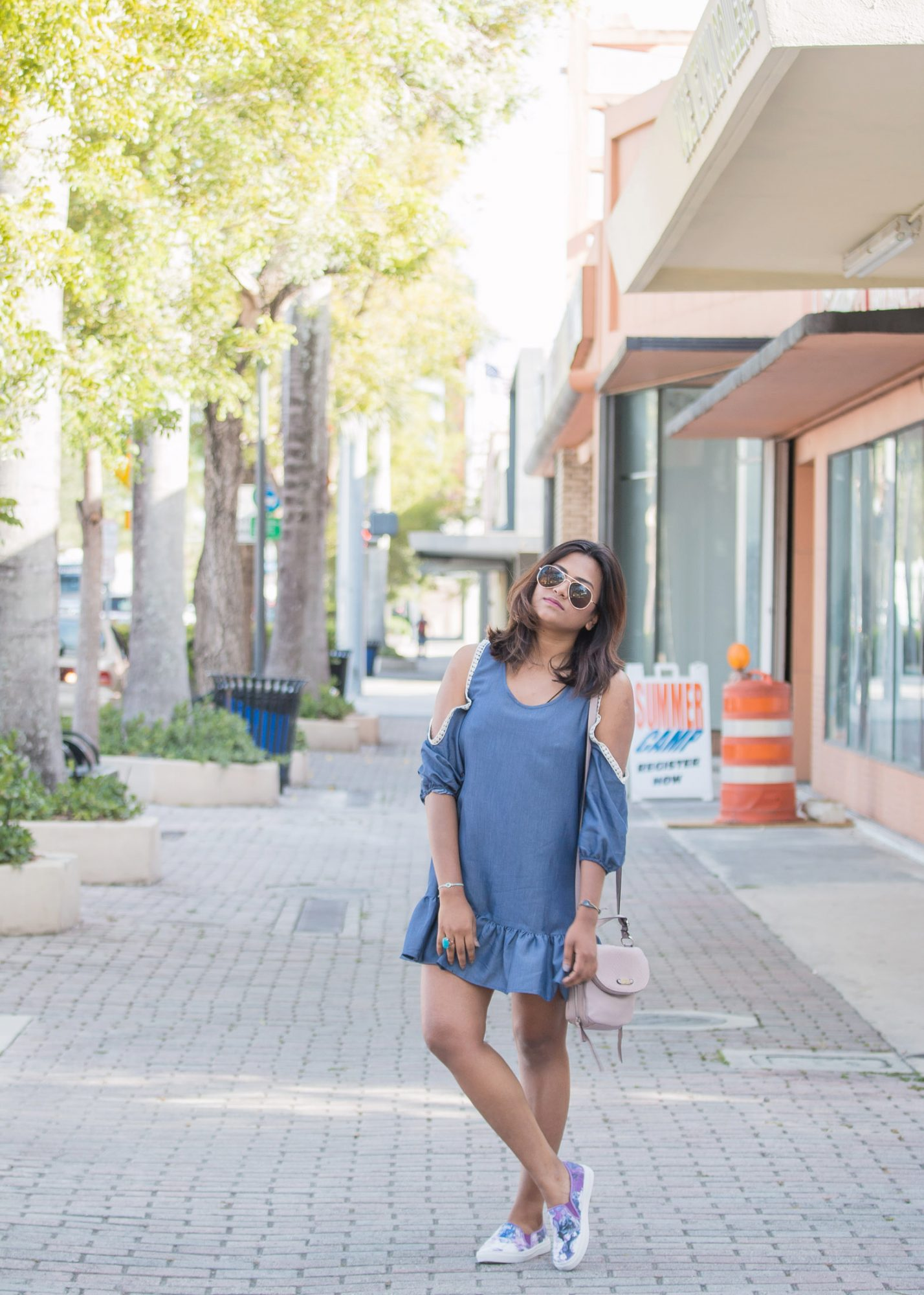Casual Blue Dress Fashion Blogger