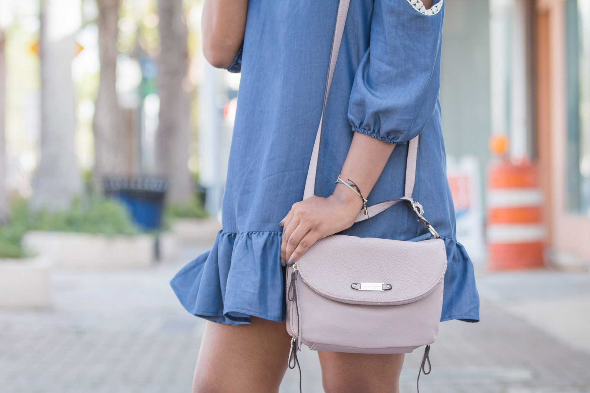 TJMAXX Cross Body Blush Handbag OOTD