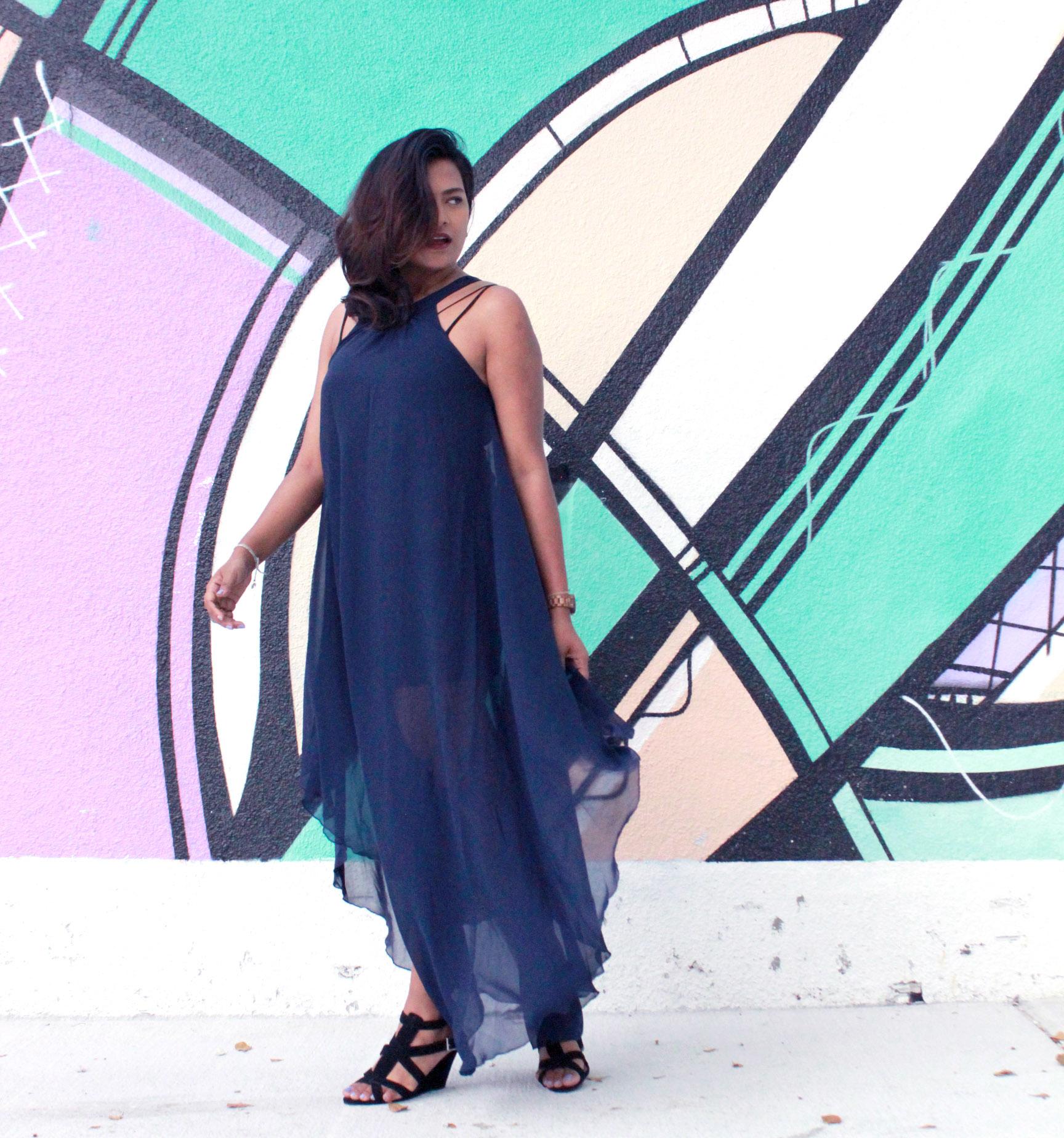 Fashion Blogger Chic Stylista Chiffon Maxi Dress
