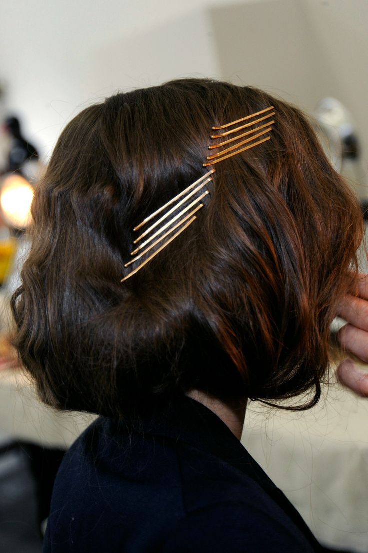 Bobby Pin Detail Short Fall Hairstyle