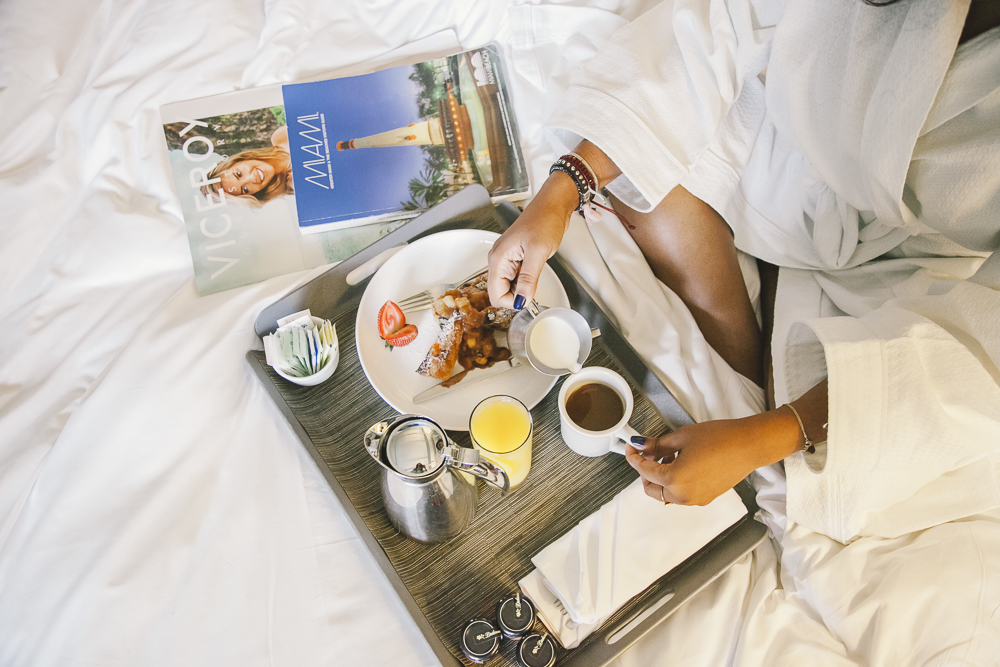 Breakfast in Bed at Viceroy Downtown Miami Staycation
