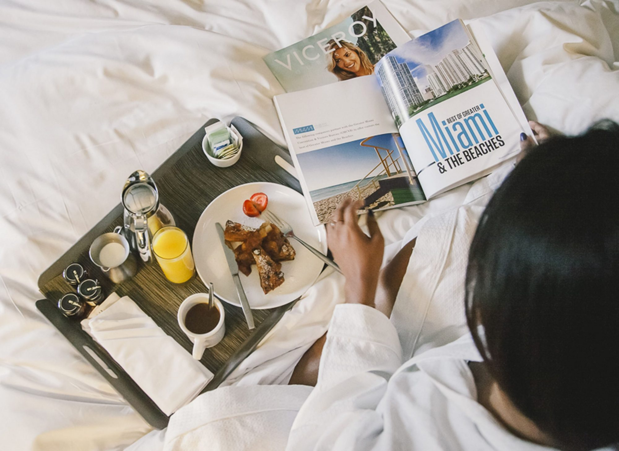 Breakfast in Bed at Viceroy Miami Staycation
