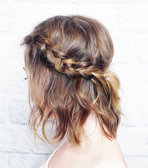 Short Hair Braid Wavy Style
