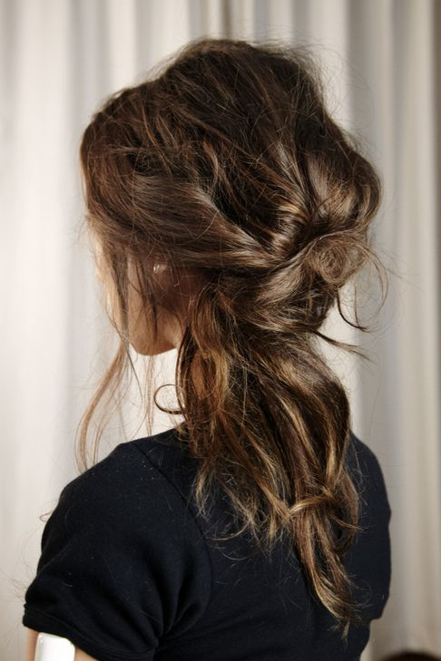 Super Messy Braid Half Up Hairdo