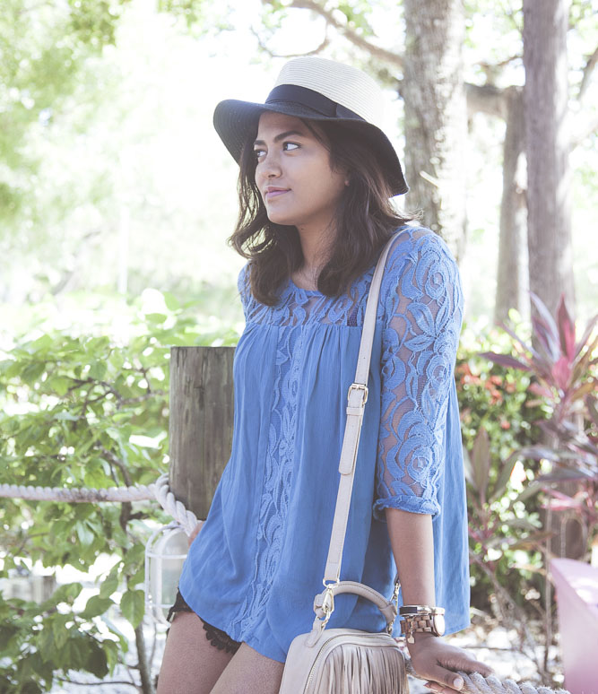 Versona Teal Flowy Top Fashion Blogge