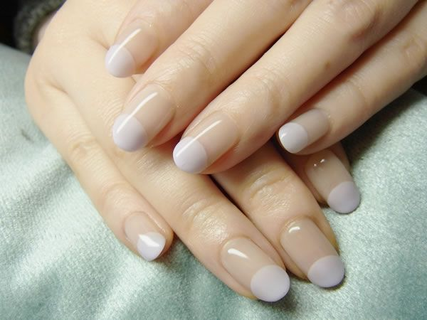 French Design Baby Blue Nail Design
