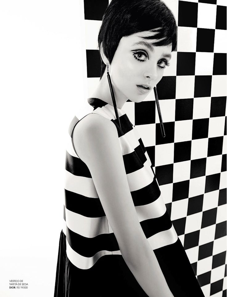 Mod Fashion Black and White Halloween Costume