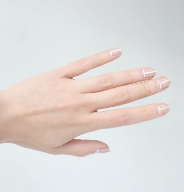 White Lines Chic Nail Design