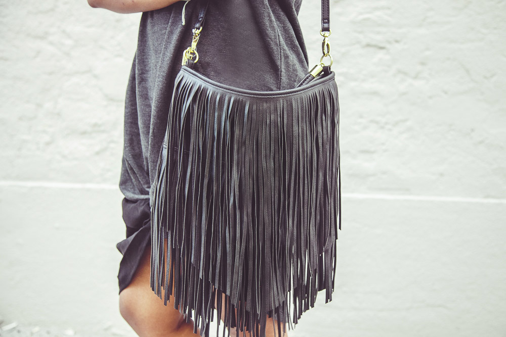 Fashion Blogger Fringe Bag OOTD
