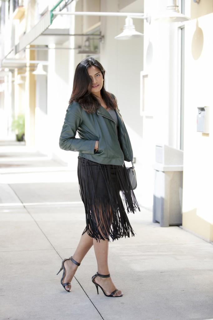 Fringe Black Skirt Lulu's Street Style