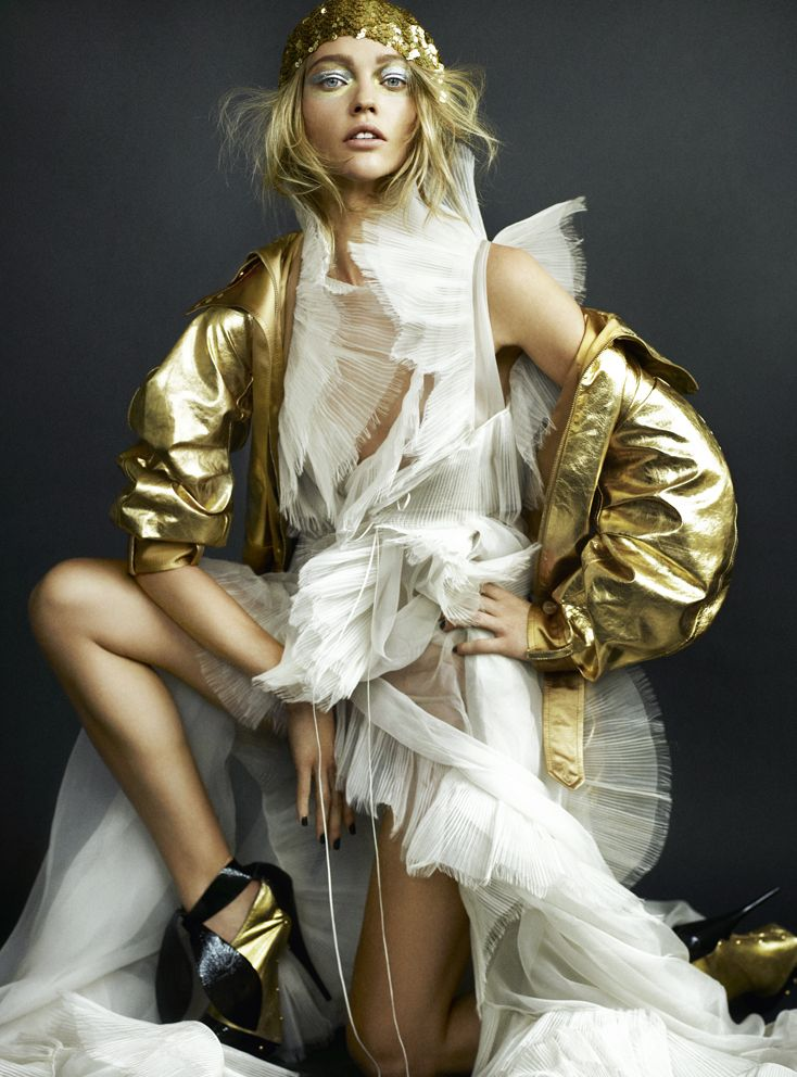 Gold Angel Soft White Dress