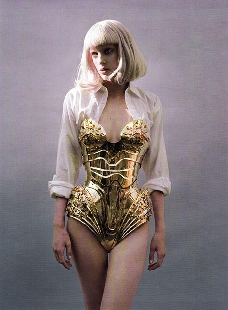 Gold Corset Fashion