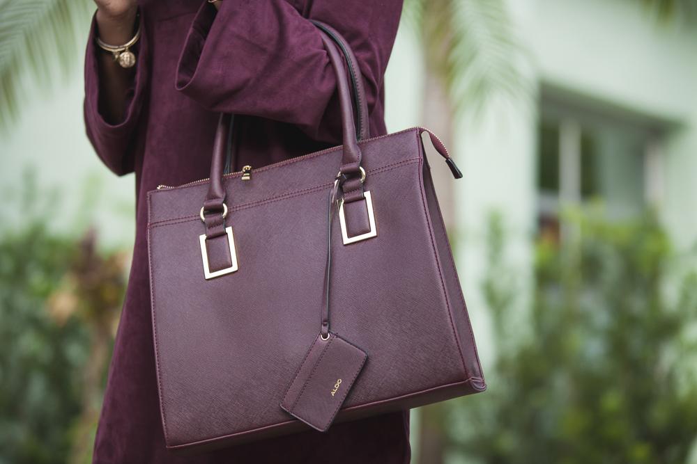 Aldo Burgundy Handbag