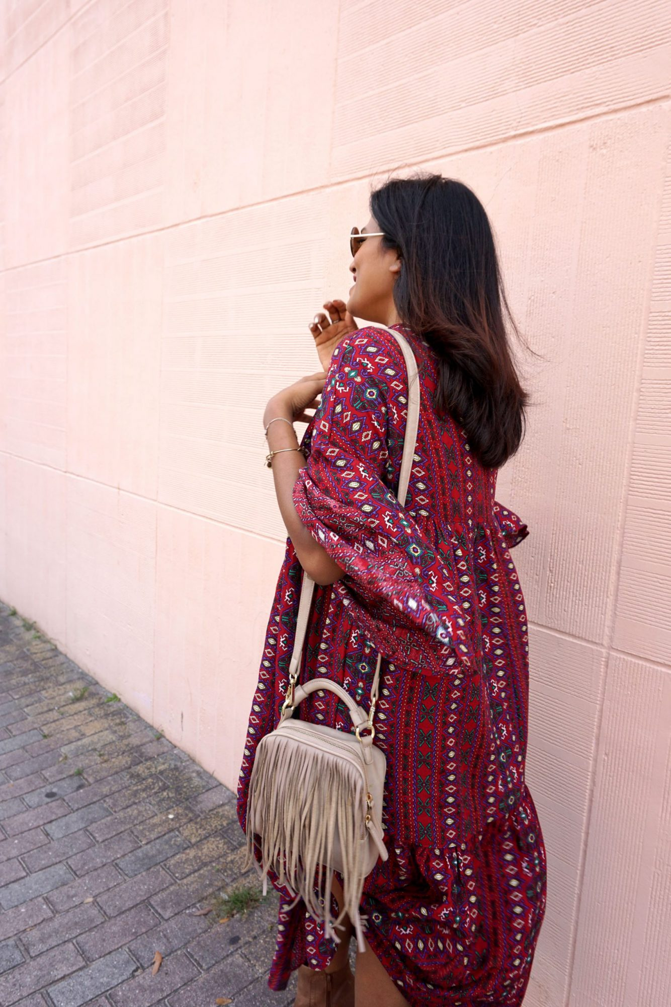 Bohemian Tribal Long Dress Fashion