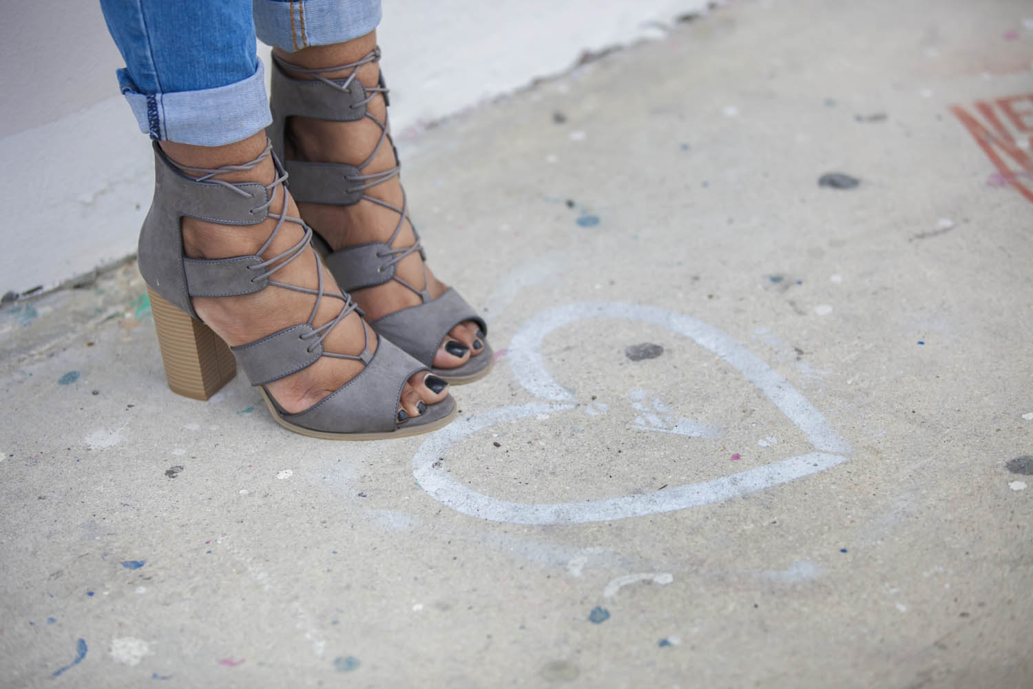 Pimark Gray Strappy Booties