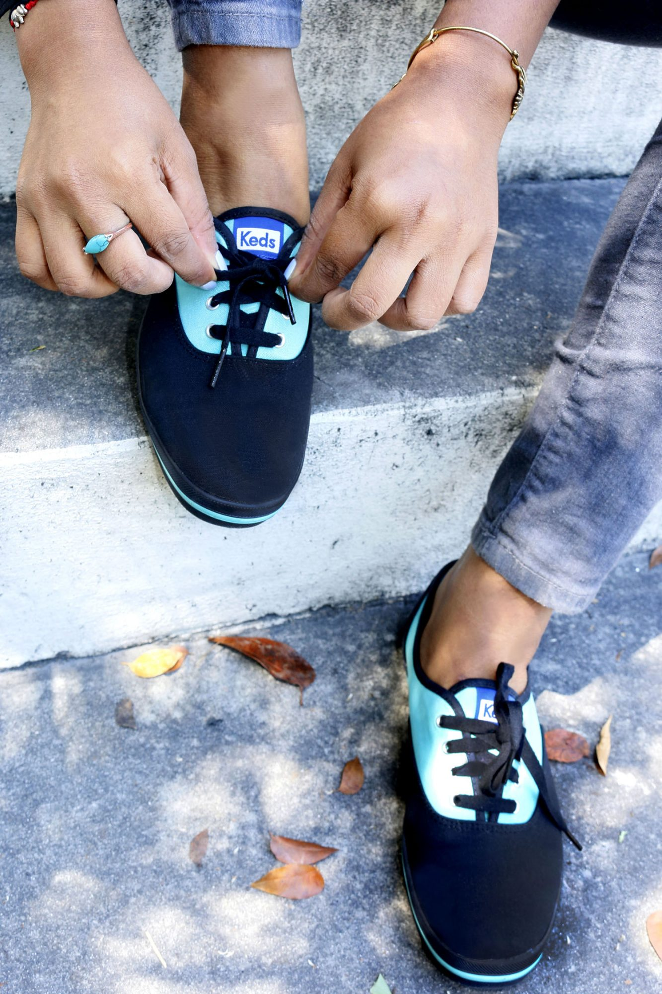 Custom-Keds-Teal-Black-Shoes
