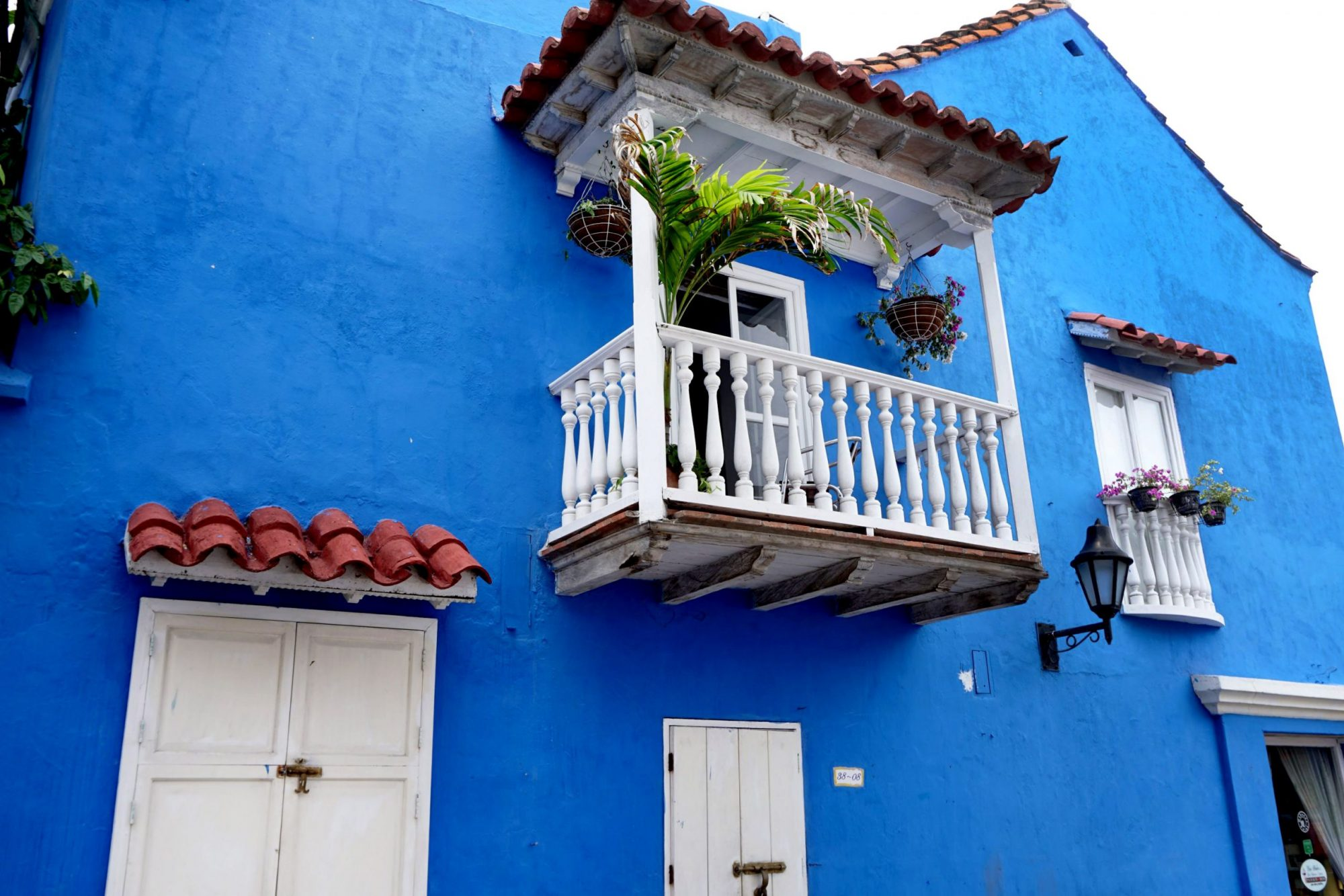Blue Wall & White Balcony
