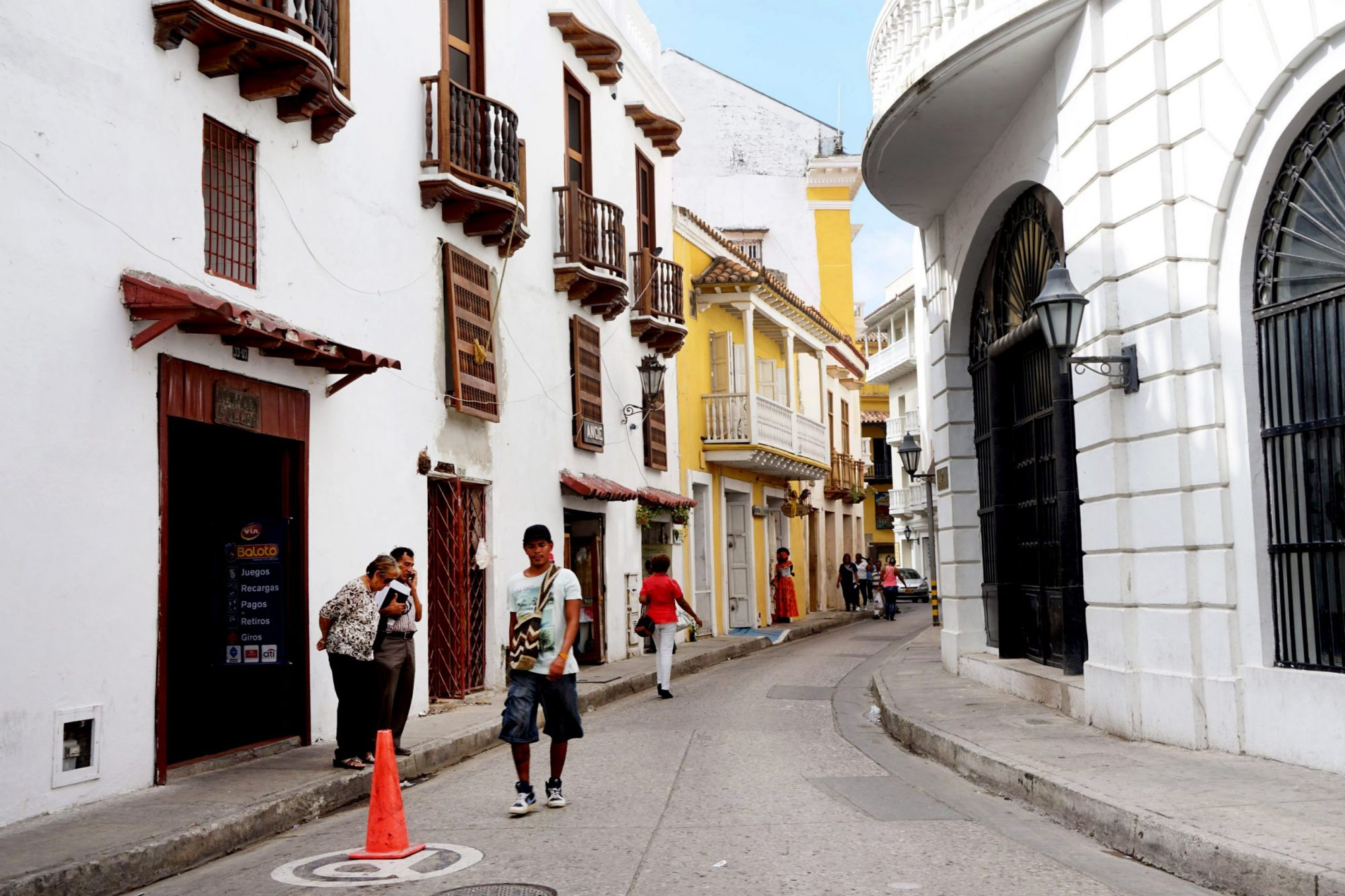 Busy Streets of Cartagena