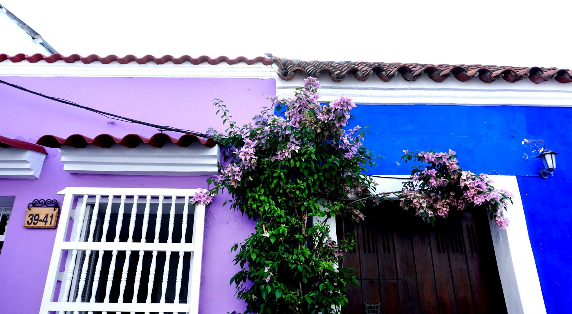 Getsemaní Cartagena Colorful Streets Purple & Blue