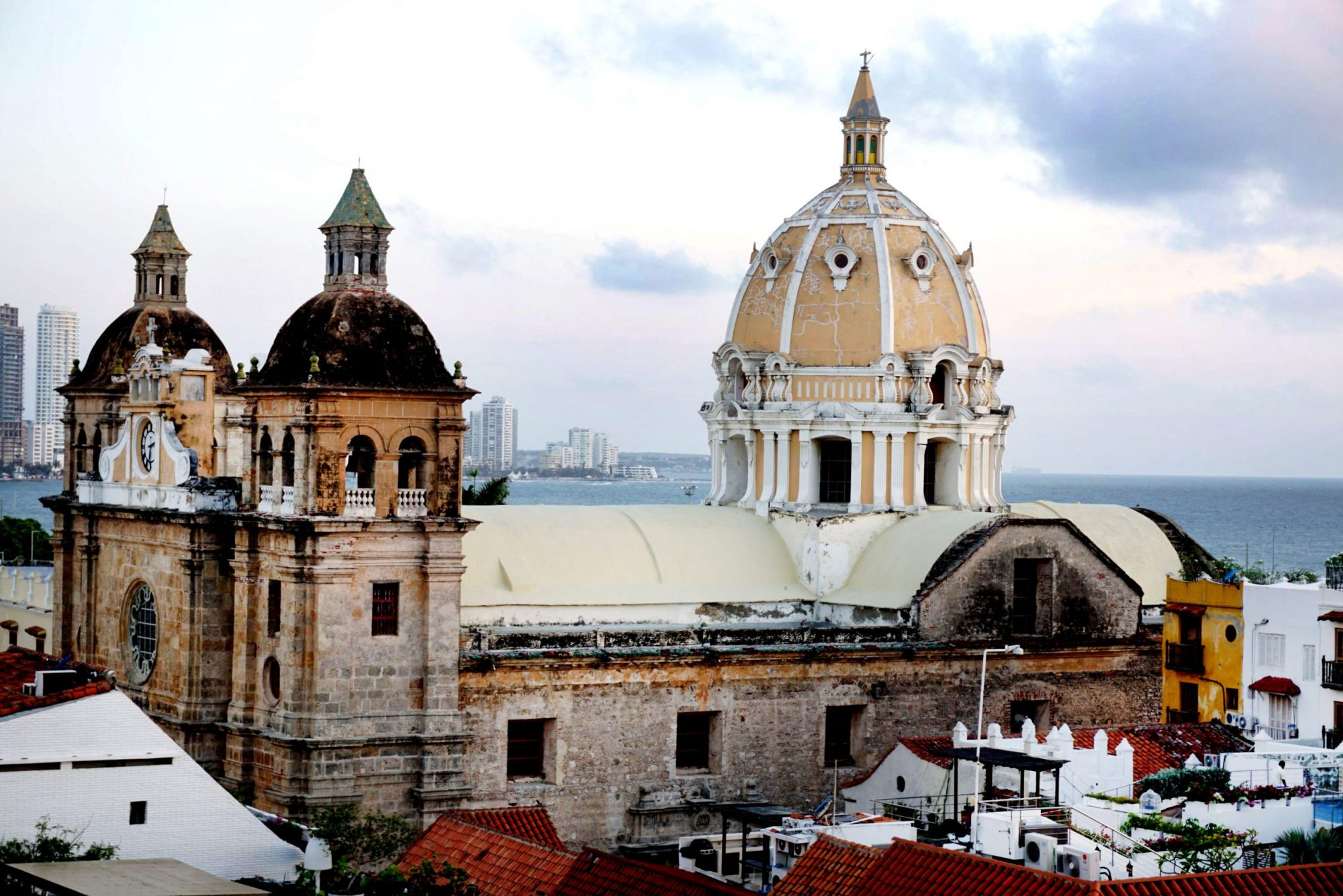 View from Movich Hotel Rooftop - Ciudad Amurallada Cartagena Cathedral