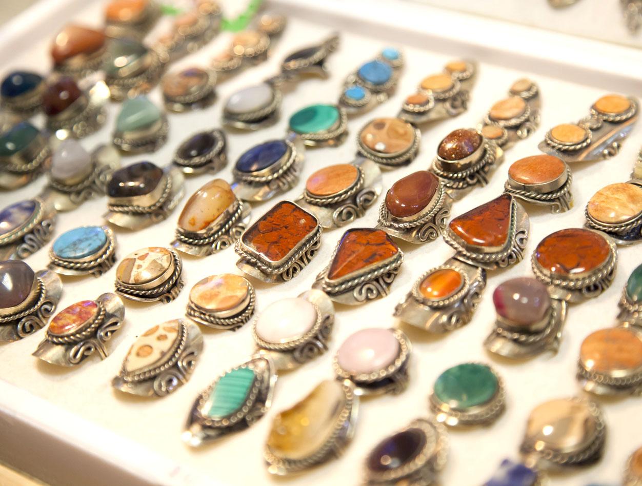 Festival Flea Market Stone Crystal Rings