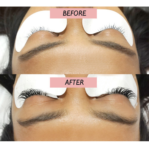 Lash Extension Before & After Miami