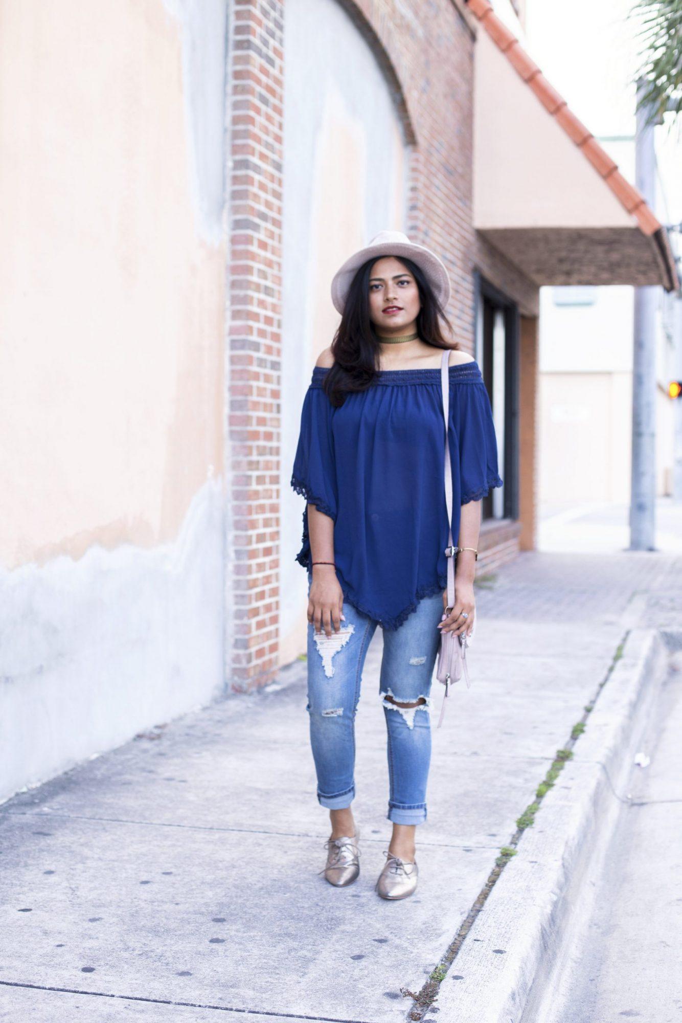 Summer Blue Street Style